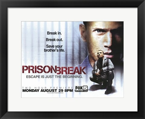 Framed Prison Break (TV) Break In. Break Out. Print