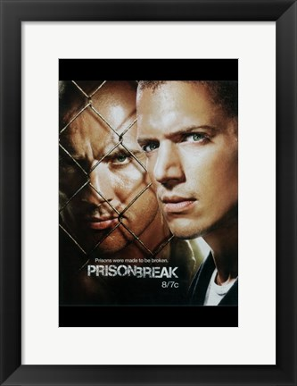 Framed Prison Break (TV) Michael & Lincoln Faded Print