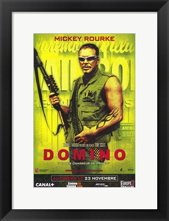 Framed Domino - Mikey Rourke Print