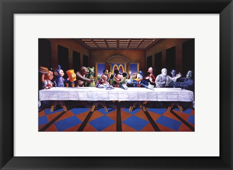 Last Cartoon (last supper parody) Poster by Ron English at ...