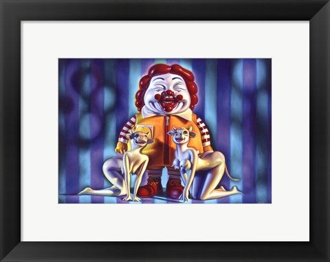 Framed M. C. Supersize and the Cowgirl Posse Print