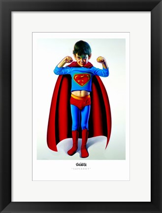 Framed Superboy Print
