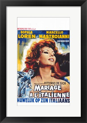 Framed Marriage - Italian Style Print