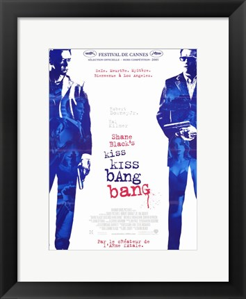 Framed Kiss Kiss Bang Bang Print