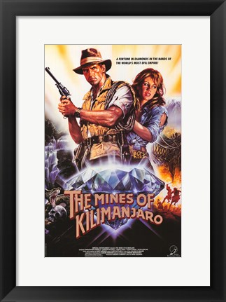 Framed Mines of Kilimanjaro Print