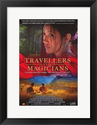 Framed Travellers and Magicians movie poster Print