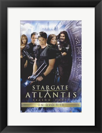 Framed Stargate: Atlantis TV Show Print