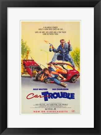 Framed Car Trouble Print