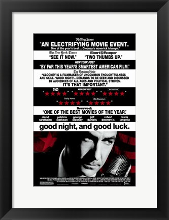 Framed Good Night and Good Luck David Strathairn Print