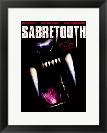 Framed Sabretooth Print