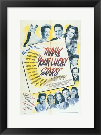 Framed Thank Your Lucky Stars Print