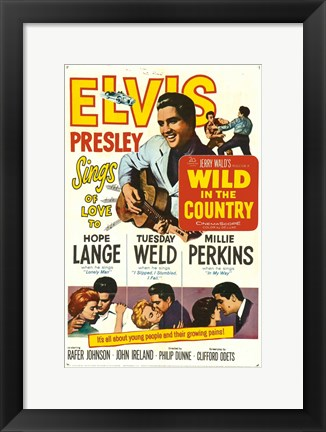 Framed Wild in the Country Print