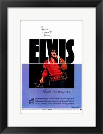 Framed Elvis: That's the Way It Is Print