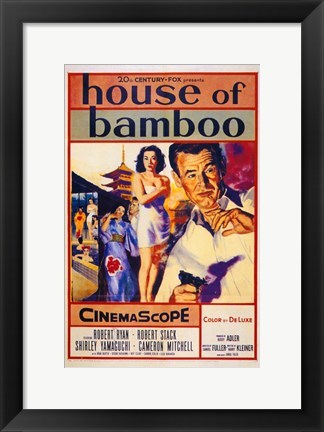 Framed House of Bamboo - Characters Print