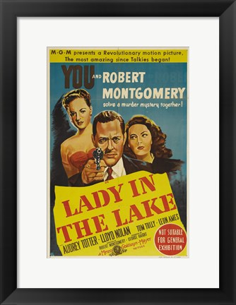 Framed Lady in the Lake Robert Montgomery Print