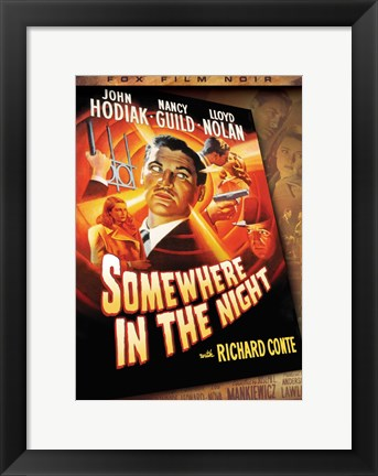 Framed Somewhere in the Night Richard Conte Print