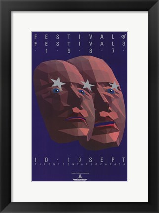 Framed Toronto International Film Festival 1987 Print