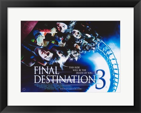 Framed Final Destination 3 - style B Print