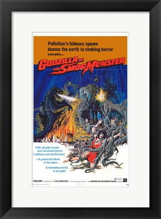 Framed Godzilla vs. Smog Monster Print