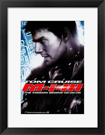 Framed Mission: Impossible III - The Mission Begins Print