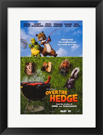 Framed Over the Hedge - Grill Print