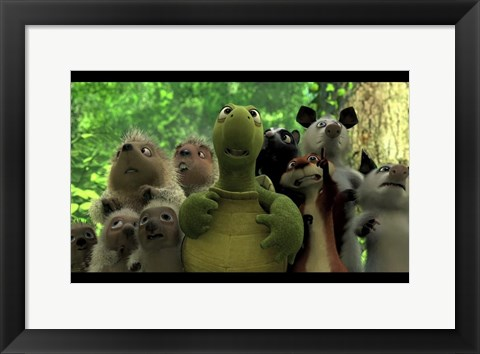 Framed Over the Hedge - animals Print