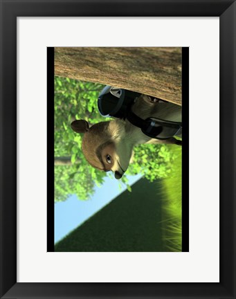 Framed Over the Hedge - Horizontal Print