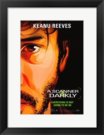 Framed Scanner Darkly Movie Print
