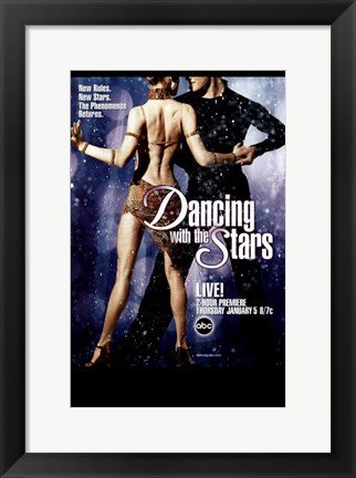 Framed Dancing with the Stars New Stars Print