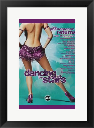 Framed Dancing with the Stars Purple Dress Print