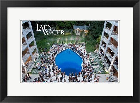 Framed Lady in the Water - pool Print