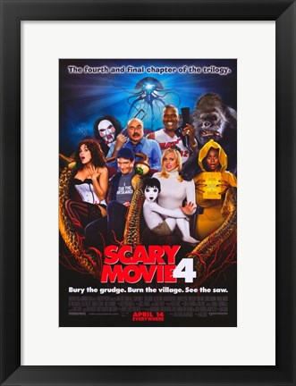 Framed Scary Movie 4 - characters Print