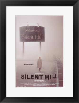 Framed Silent Hill - Walking alone Print