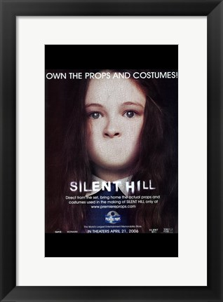 Framed Silent Hill - girl with no mouth Print