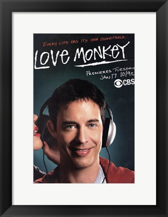Framed Love Monkey Print
