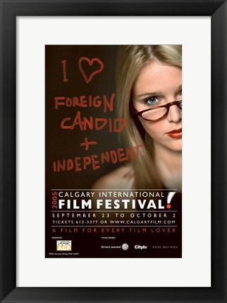 Framed Calgary International Film Festival Poster Print