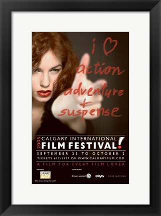 Framed Calgary International Film Festival Ad Print