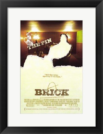 Framed Brick - The Pin Print