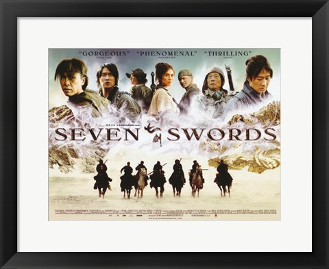 Framed Seven Swords Print