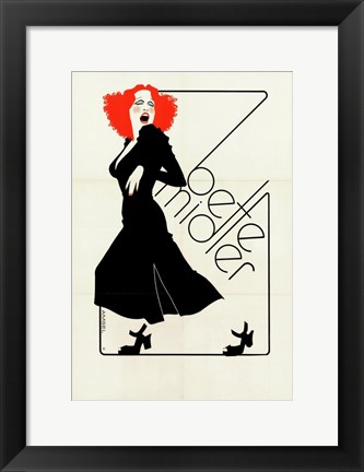 Framed Bette Midler Print