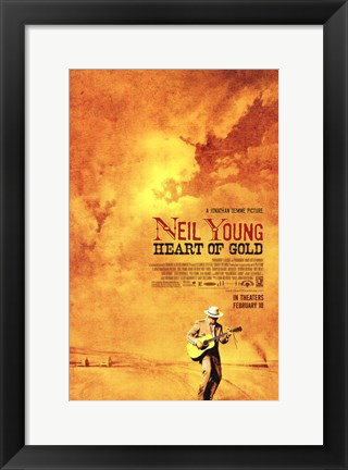 Framed Neil Young: Heart of Gold Print