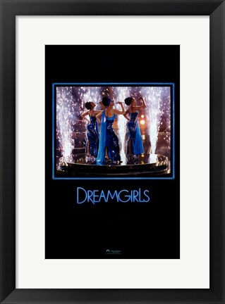 Framed Dreamgirls - in blue Print