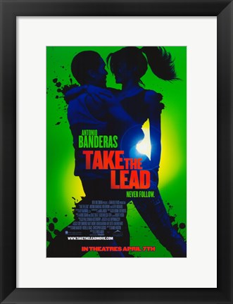 Framed Take the Lead Print