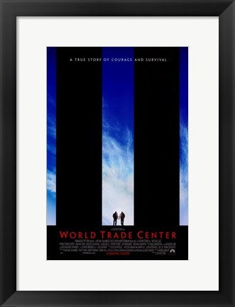 Framed World Trade Center Movie Print