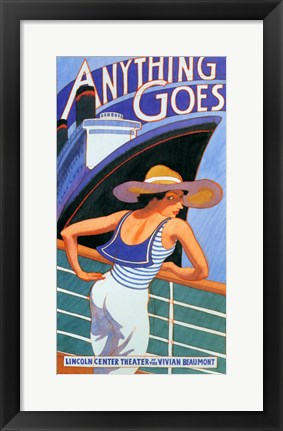 Framed Anything Goes (stage play) Print