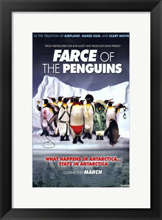 Framed Farce of the Penguins Print