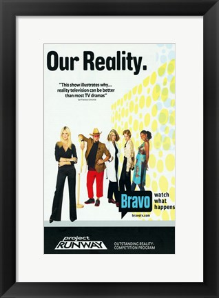 Framed Project Runway Print