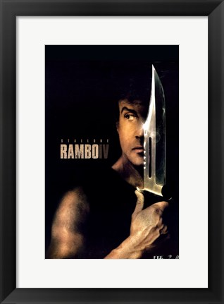 Framed Rambo - knife Print