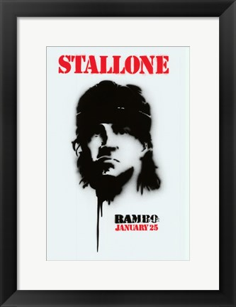 Framed Rambo - January 25 Print