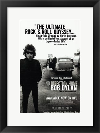 Framed No Direction Home: Bob Dylan Documentary Print